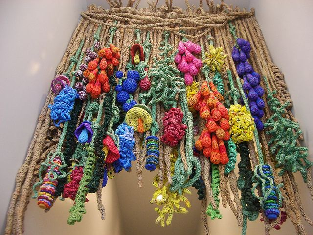 art installation from plastic bags - 'Flora Plastica' by Barbara DePirro at TAM by Ruby Re-Usable, via Flickr