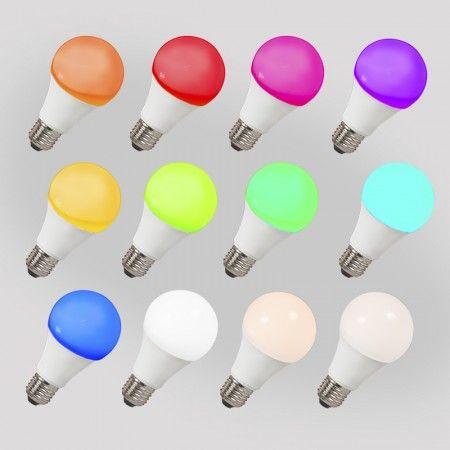 5er Set LED Leuchtmittel E27 240V 7W / 550lm A60 Smart Light - Diese besondere LED Lampe ist mit einer RGB Funktion und einer Smart Light ausgestattet, sodass Sie mit diesem Leuchtmittel eine ganz besondere Atmosphäre zaubern können. Dank der integrierten RGB Funktion können Sie das Leuchtmittel so einstellen wie Sie es wünschen. Wählen Sie über Ihr Smartphone oder Tablet (IOS + Android kompatible) einfach die gewünschte Farbe aus und setzen Sie so schöne Farbakzente in Ihrem Zuhause.