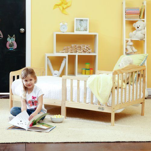 The Orbelle Contemporary Solid Wood Toddler Bed - Natural