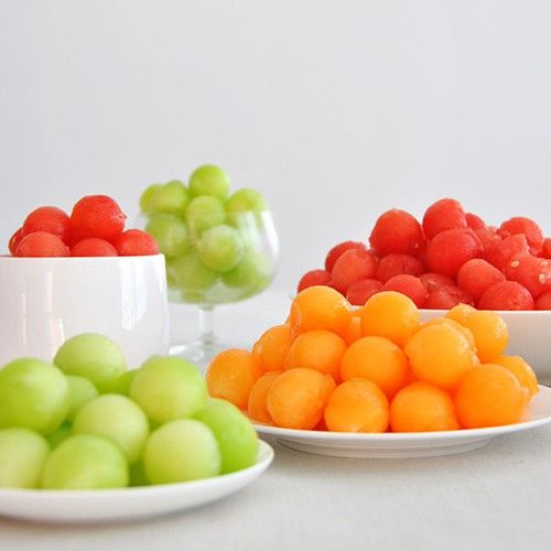 Melon Balls as bubbles or planets for space theme birthday