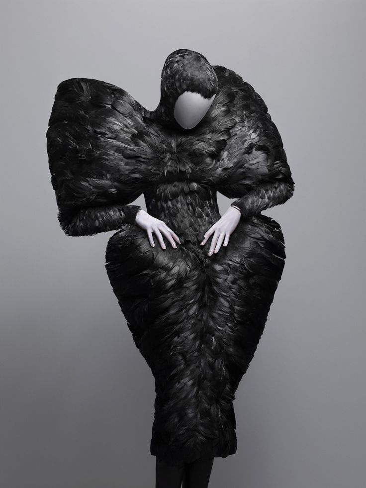 The Horn of Plenty, autumn/winter 2009–10  Black duck feathers  Courtesy of Alexander McQueen