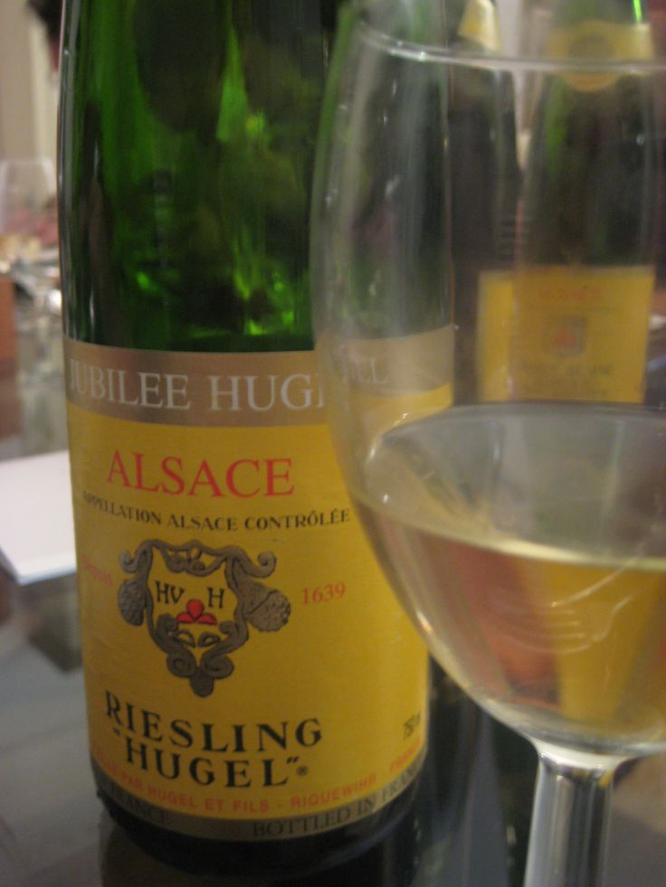 Alsace - Riesling Hugel white wine. Alsatian white wines are superb.