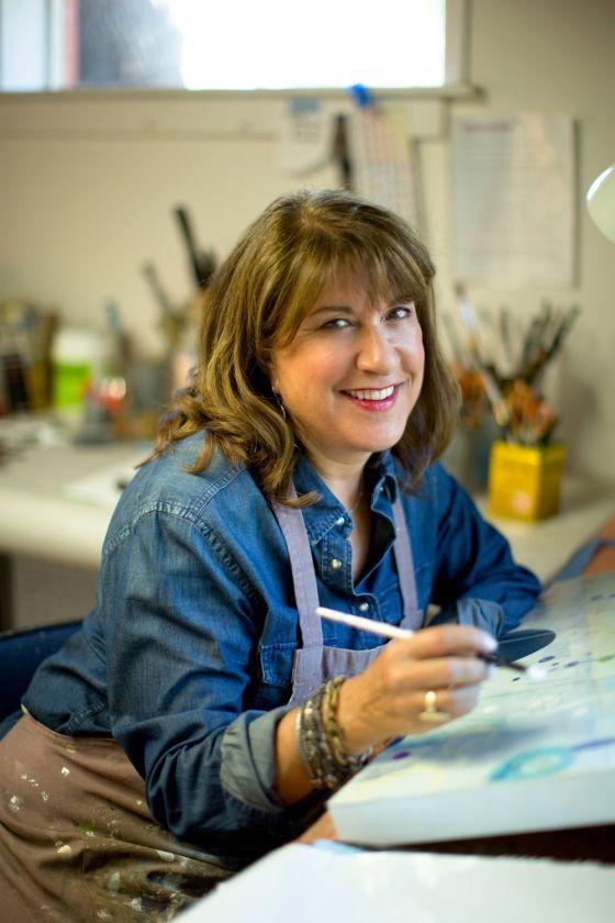 Karen Lehrer in the Studio