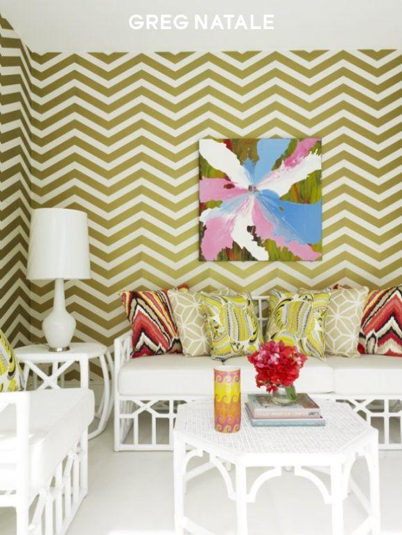 Luxuriate in the Living Room. Interior Designer: Greg Natale.
