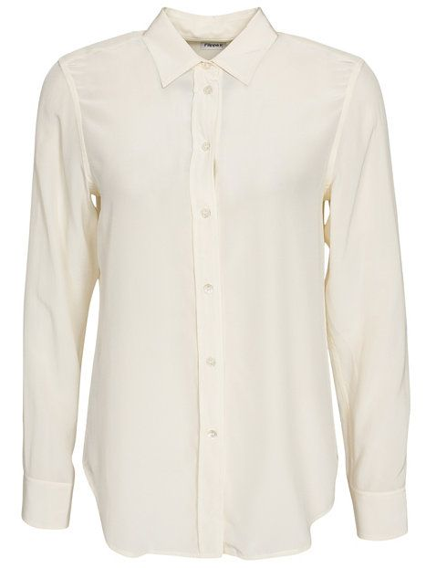 Classic Silk Shirt - Filippa K - Cream - Paitapuserot & Kauluspaidat - Vaatteet - Nainen - Nelly.com
