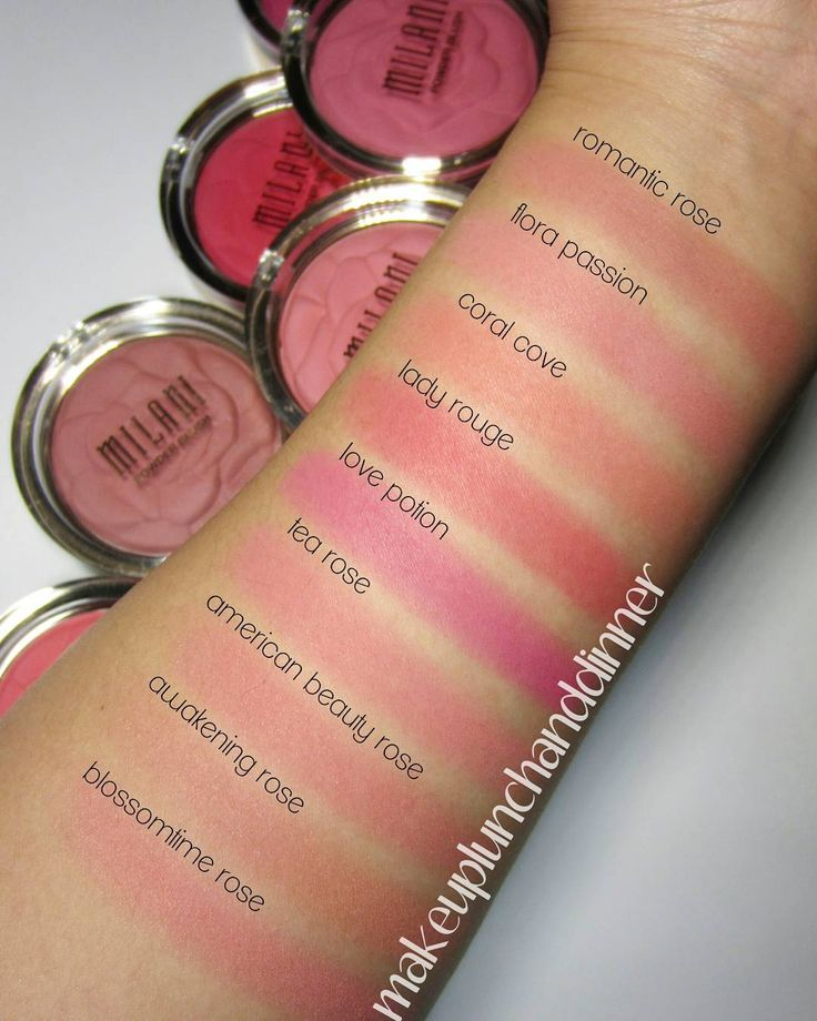 Milani Rose Blush Swatches
