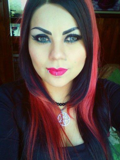 #Rouge #blackmetalgirl #redhair #haircolors