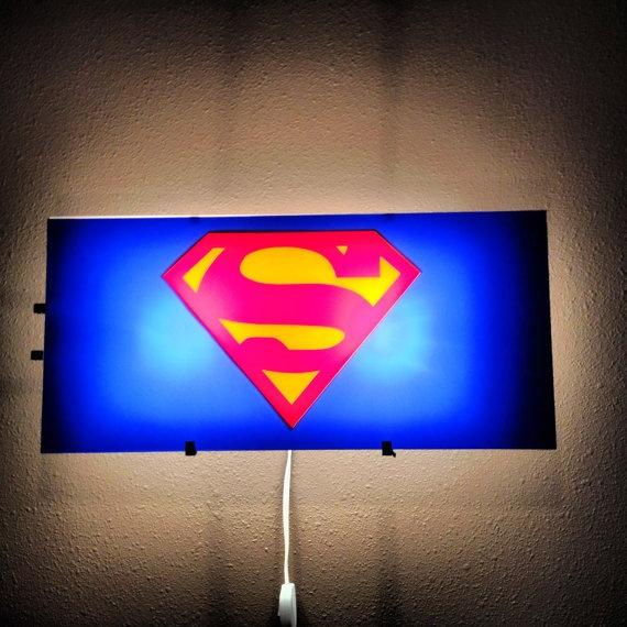40 best superman lights etc images on pinterest kid bedrooms superman man of steel bat signal light gotham cit boys room decor mozeypictures Gallery