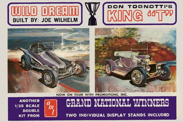 Amt Double Kit Wild Dream And King T Model Car Box Art And