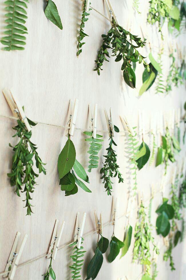 strings of spring greenery
