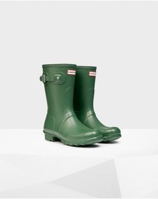 Hunter Women's Original Short Wellington Boots Green