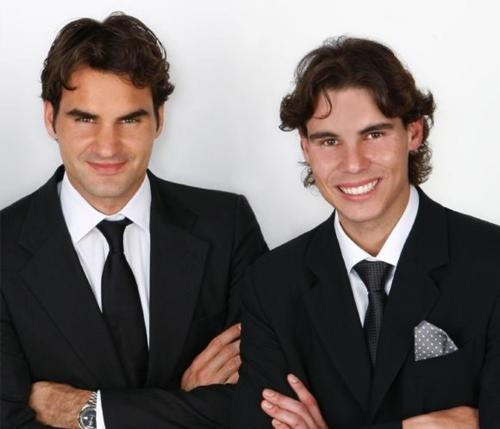 Rafael Nadal and Roger Federer