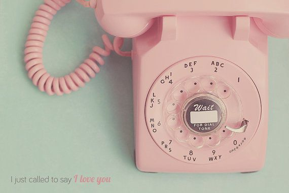 Vintage Pink Rotary Phone Old Fashion Telephone Photo Art Print Call - 8 x 10 or 8 x 12 on Etsy, $28.00