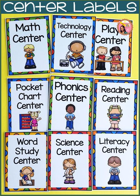 Center Labels for the classroom. #backtoschool $