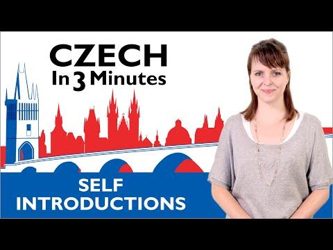 Learn Czech - How to Introduce Yourself in Czech - Czech in Three Minutes - YouTube