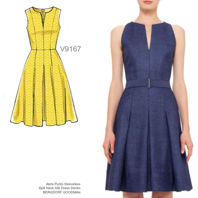 Shift dress pattern vogue