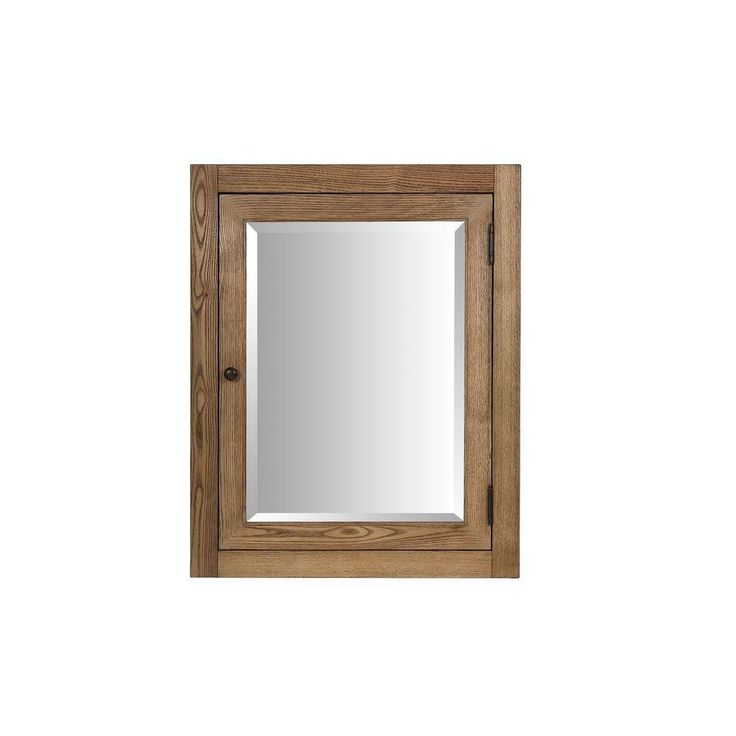 surface mount corner medicine cabinet in driftwood finish features 2 adjustable shelves for versatile storage options the beveled mirror design adds - Corner Bathroom Mirror Cabinet