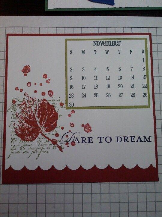 Stampin Up Calendar Ideas : Stampin up calendar created by becky drui cd