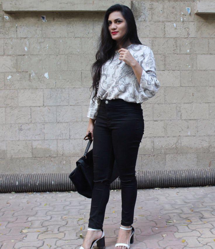 Monochrome Moments   Top - Vero Moda | Pants - New Look | Bag - Vero Moda | Sandals - Forever 21  #styllogue