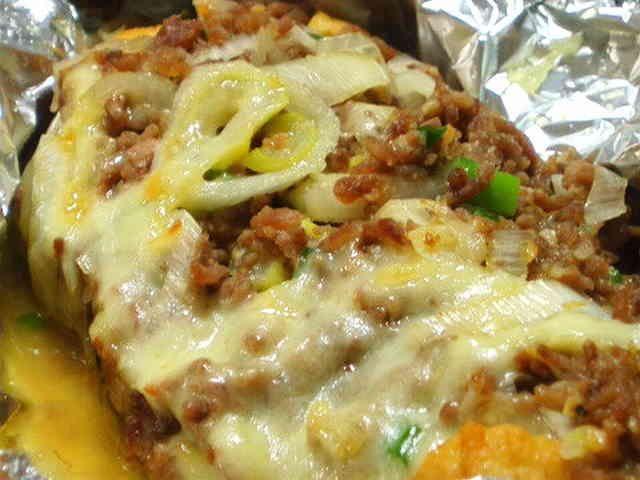 節約♡厚揚げの肉味噌チーズ♡の画像