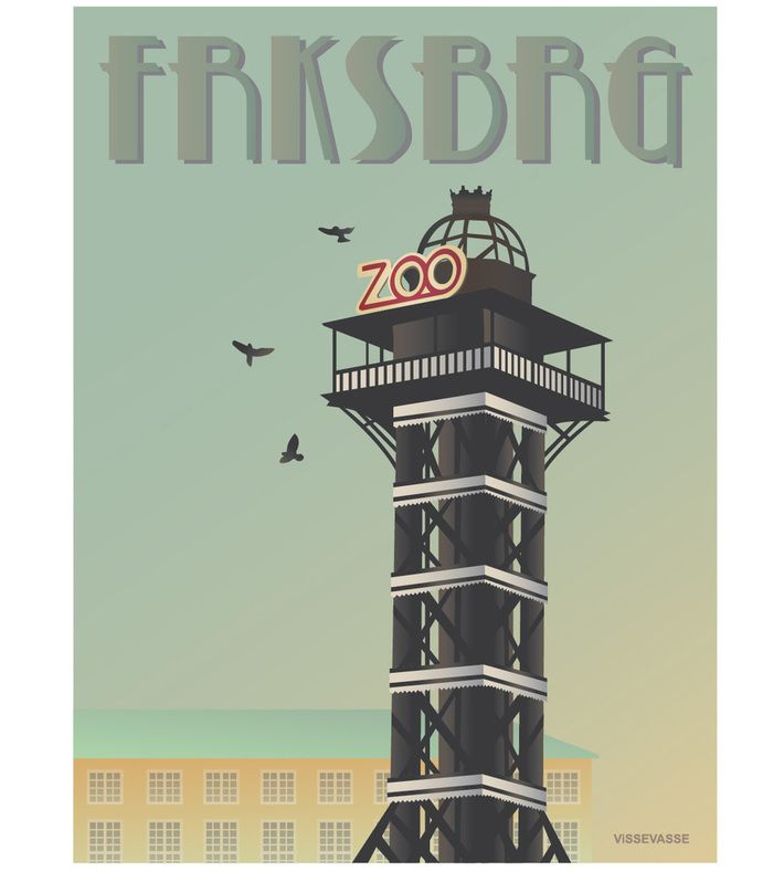FRKSBRG - The ZOO tower at Frederiksberg. You can buy this piece at www.artrebels.com #artrebels #art #vissevasse