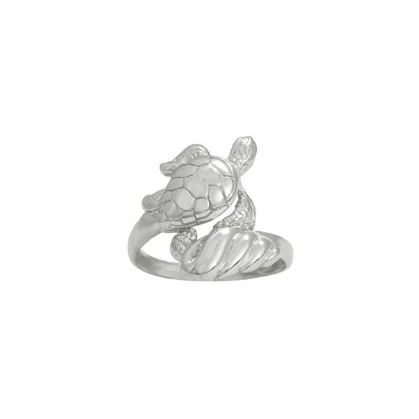 Sea Turtle Rings, Wave Rings, Sea Life Jewelry ❤ liked on Polyvore featuring jewelry, rings, turtle ring, sterling silver turtle ring, sterling silver turtle jewelry, turtle jewelry and sterling silver rings