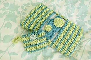 Great baby shower gift - baby wipes with pacifier pouch covers to crochet