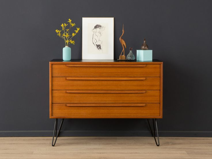 teak kommode sideboard 50er vintage 60er von mid century friends auf mid. Black Bedroom Furniture Sets. Home Design Ideas