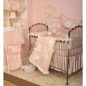 Pink Heaven Sent Crib Bedding
