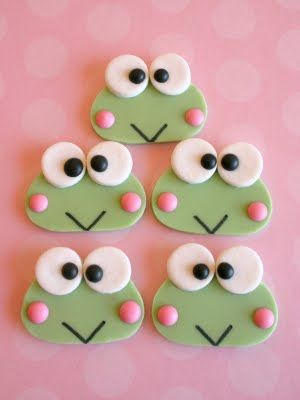 Hello Kitty's friend...now i have something for the boys at Abbie's party!  keroppi edible decorations...