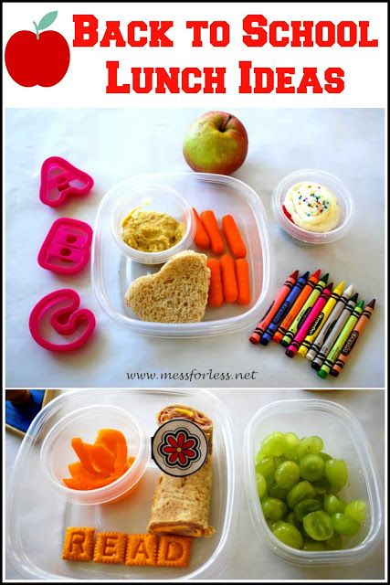 Mess For Less: Back to School - Healthy School Lunch Ideas