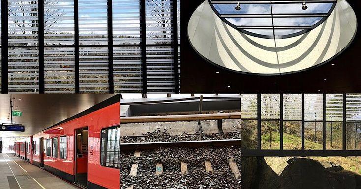Siilitien metrostation photo collage - Siilitien metroasema -valokuvakollaasi