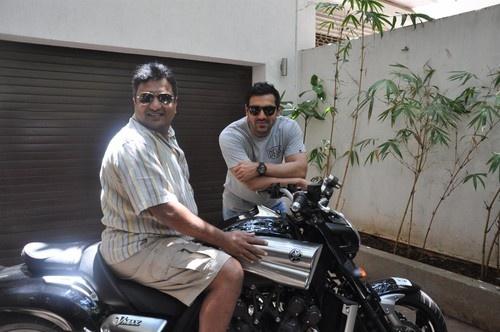 John Abraham gifts 'Yamaha V Max' Motorcycle to 'Shootout at Wadala' Director Sanjay Gupta