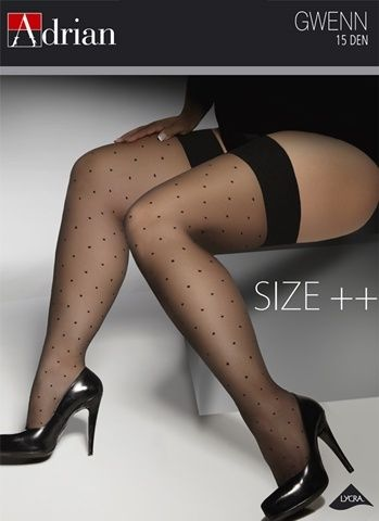 Pończochy Gwenn 15 DEN  #adrian #rajstopyadrian #adrianinspiruje #size #plus #curves