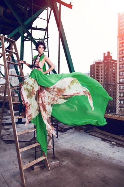 Flowing dress - High fashion Photography - Duong Thanh model