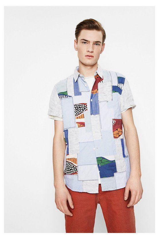 Camisa blanca y azul - Salsa | Desigual.com L