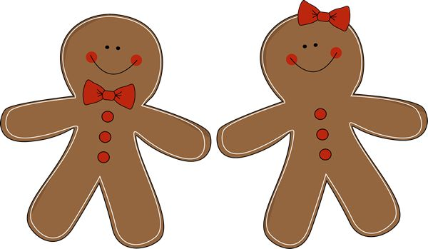Gingerbread couple - there are other variations available at MyCuteGraphics. :)