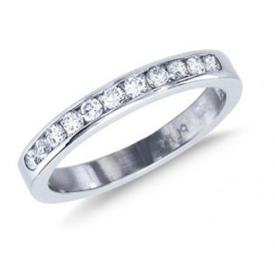 Half Circle Diamond Ring - Wedding Stuff