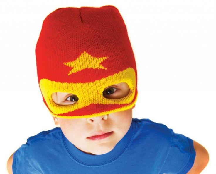 Love these handmade superhero hats for kids!