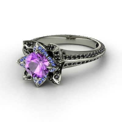 Pave Lotus Ring