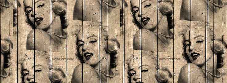 Marilyn Monroe On Wood Facebook Cover   JUSTBESTCOVERS