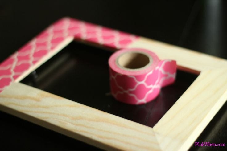 Create a picture frame with washi tape - easy DIY