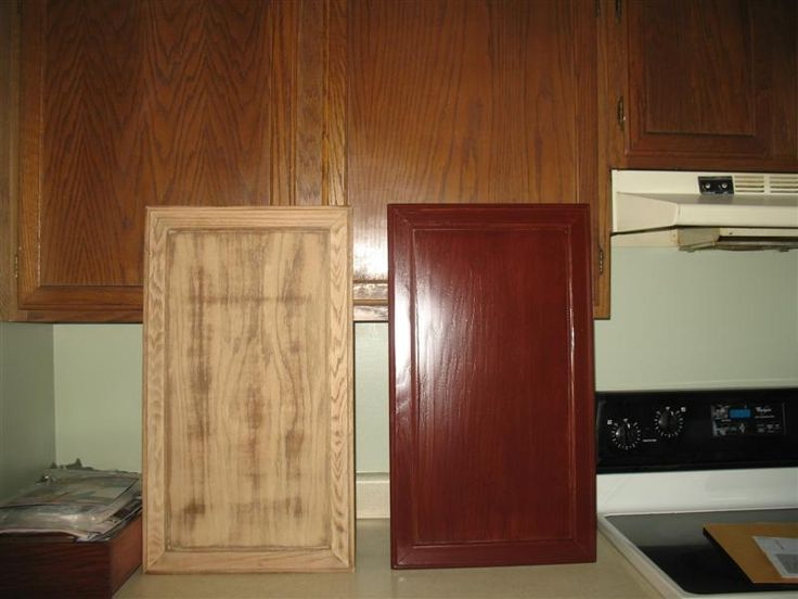 Can you restain kitchen cabinets re staining kitchen for Can you stain kitchen cabinets