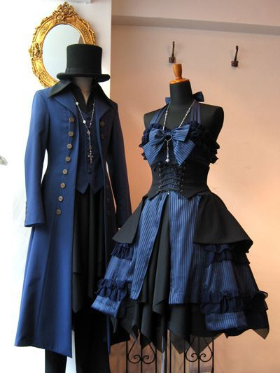 Add some black glitter, a mask and black knee high steampunk boots!  PERFECT! ❤️  Ouji and Lolita pair
