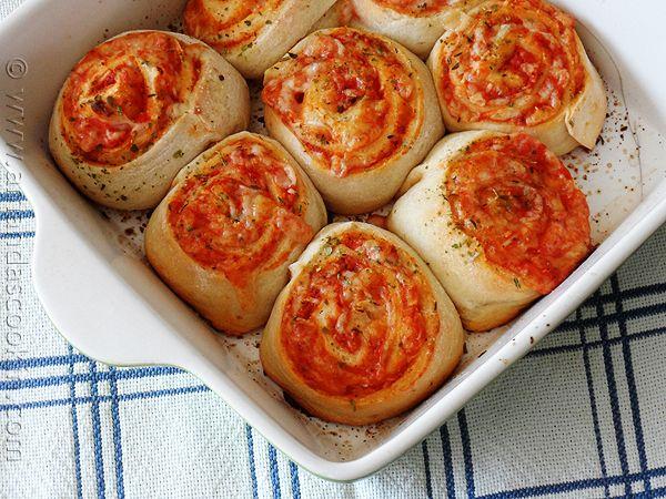 Pizza Roll Ups from AmandasCookin.com @amandaformaro