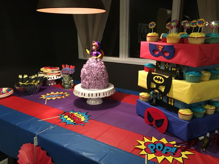 Superhero party. Batgirl. Birthday party