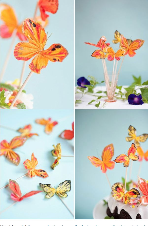 Make Crepe Paper Butterflies | Ohhappyday