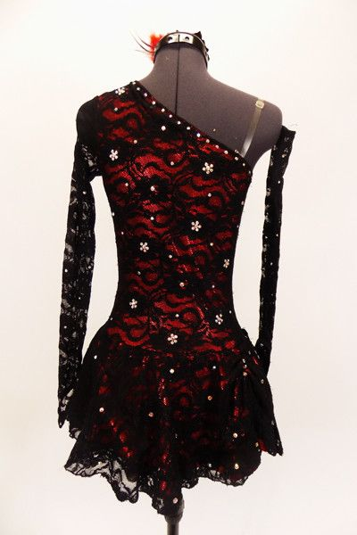 Bonita, Red-Black Lace, Spanish Dance Costume, For Sale – Once More From The Top