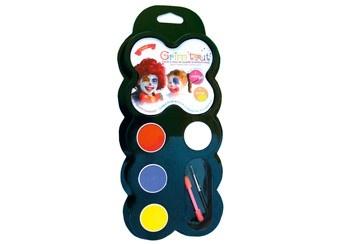 Themen Schminkkasten 'Clown' mit 4 Farben (GRIM'TOUT)