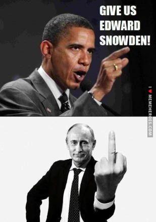 Barack Obama vs. Vladimir Putin about Edward Snowden - http://memeheroes.com/af1bc-barack-obama-vs-vladimir-putin-about-edward-snowden/